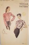 Vintage Vogue 40's Blouse