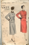 Vintage Vogue 40's Skirt Suit